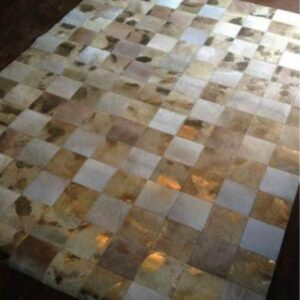 Patchwork Hide Rug in Gold