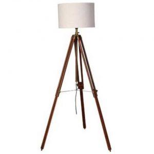 Wooden trippod floor lamp
