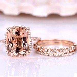 Natural Morganite Engagement Ring