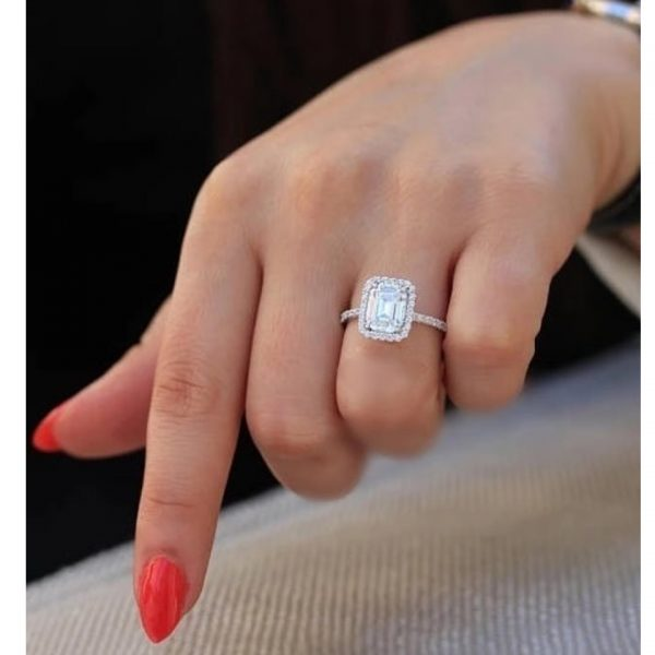 Princess 3.5 Carat Diamond Engagment Ring