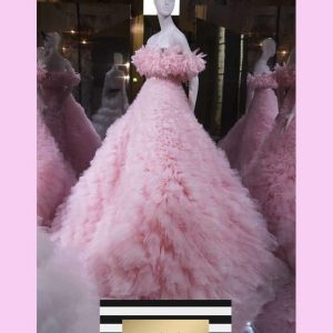 Pink Haute Couture Dress Gown