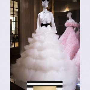 White Haute Couture Dress Gown