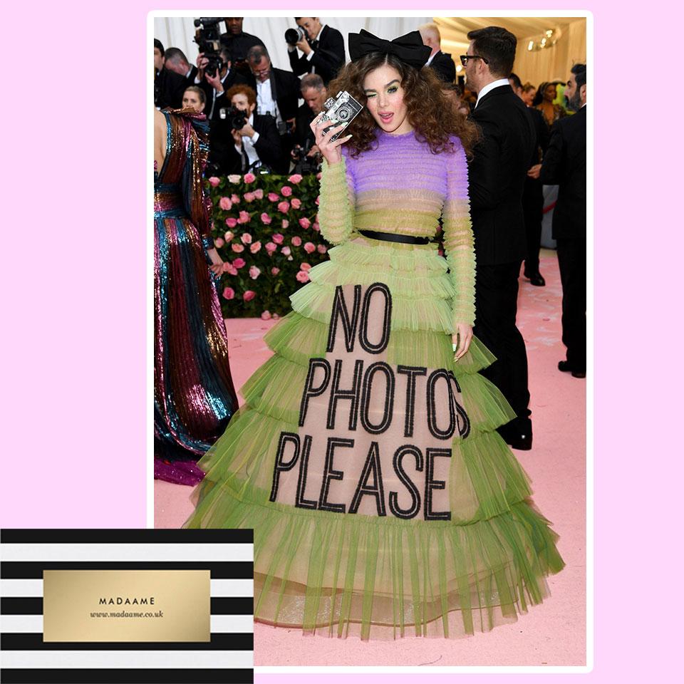 No Photos Please Haute Couture fashion Dress