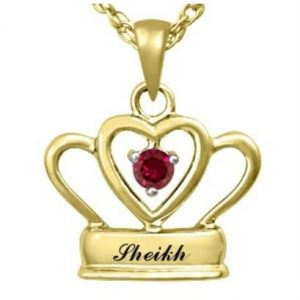 Sheikh 9K Gold Pendant With Ruby Centre Stone