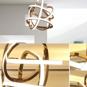 Nodic Iron Acrylic Chandelier