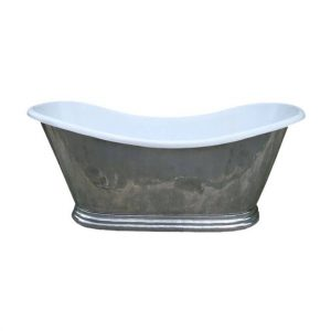 Antique French Bathroom Grey Tub
