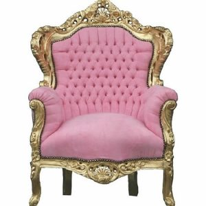 "Pink Baroque Chaise ""King"" Armchair"