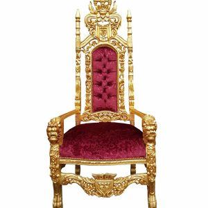 Baroque Gold Throne Armchair