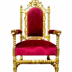 Baroque Louis Gold Throne Armchair
