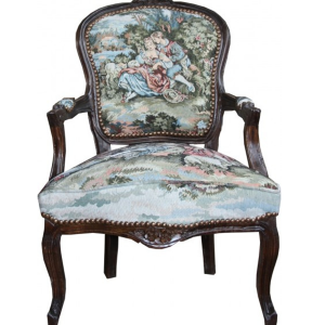 Baroque Tapestry Salon Chair
