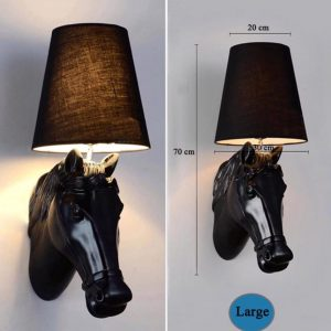 Black Horse Head Wall Lamp