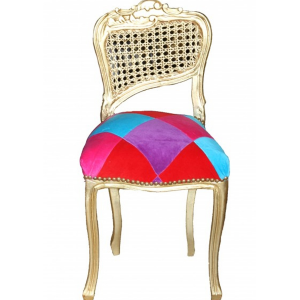 Karo Stained Make-Up Chair in Gold