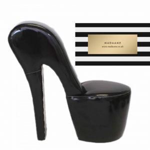 High Heel Platform Shoe Chair In Glossy Black