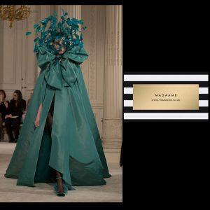 Haute Couture Green Cloak
