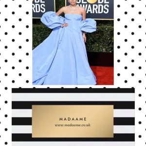 Lady Gaga Lavender Ball Gown In Baby Blue
