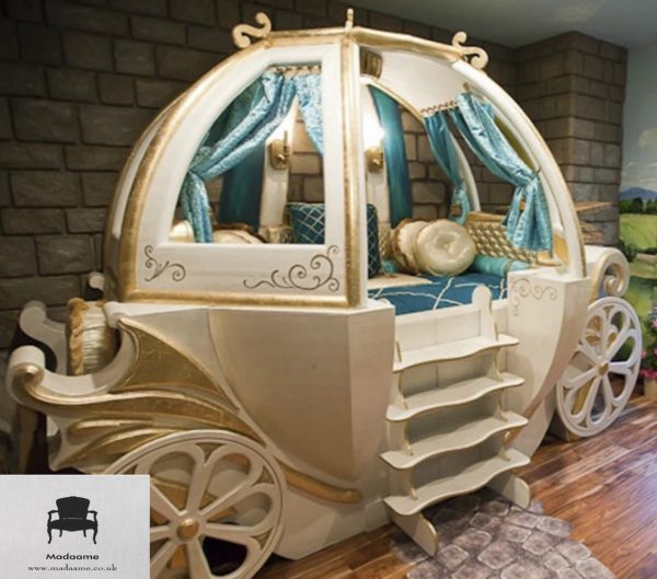 Luxurious Carriage Children's Bed for Little Princesses and Princes