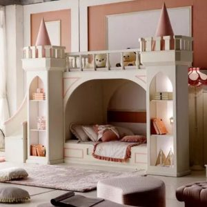 Luxurious Children's Castle Bunk Bed for Little Princesses