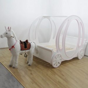 Children's Princess Carriage Bed for Little Princesses