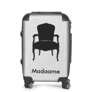 Madaame Black & Grey Luggage Suitcase