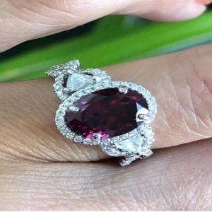 Ruby Diamond Ring For Women