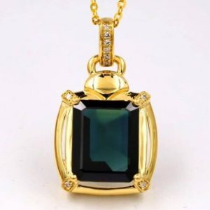 Gold Natural Sapphire Pendant