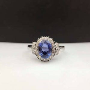 Natural Sapphire Wedding Ring For Engagements and Weddings
