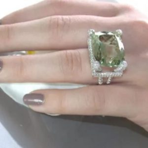 Peridot Emerald Topaz Ring.