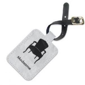 Madaame Printed Leather Luggage Tag