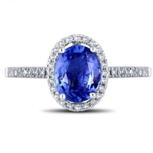 Blue Sapphire Wedding Ring For Engagements and Weddings