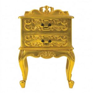 The Rococo Gold Leaf Bedside Table