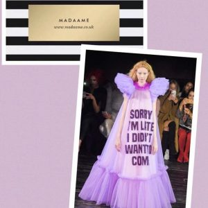 """Sorry I'm Late I Didn't Want To Come"" haute couture gown"