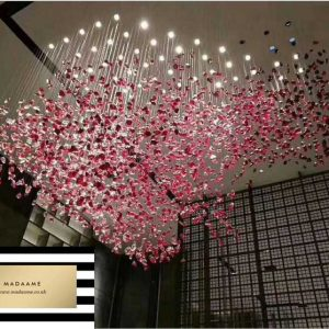 Crystal Glass Chandelier Ceiling Lamp from Madaame