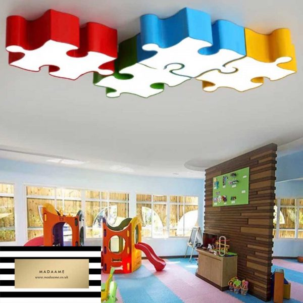 Children's Building Blocks jigsaw Ceiling Lights from Madaame