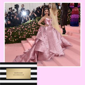Metallic Pink Celebrity Gown