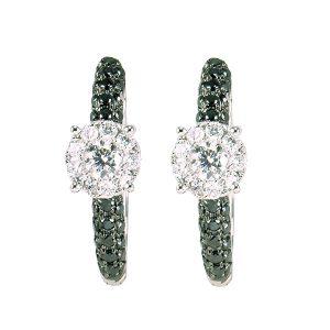 18kt white gold black diamond hoop earrings from Madaame