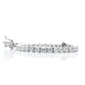 Classic round tennis 18 carats white gold bracelet from Madaame