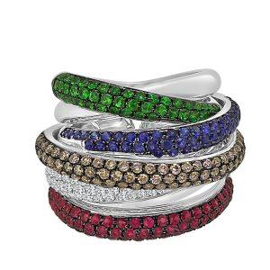 Grandeur multi diamond ring