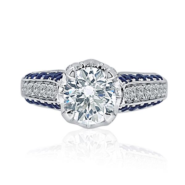 Princess Crown Engagement Ring